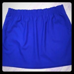 J Crew  Royal Blue Gathered Skirt- NWT